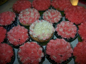 Mixed frosting - pink and white
