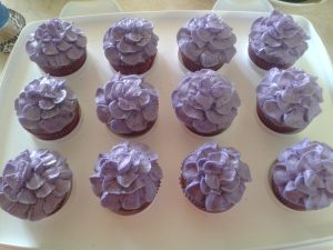 Purple Flower Cupcake