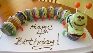 Caterpillar Cupcake - kids love it!