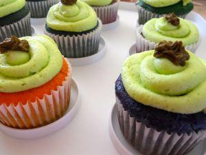 coloured cupcakes
