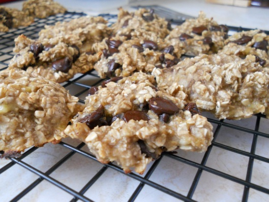 banana oatmeal cookie