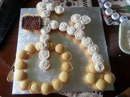 Bicycle Pull a Part Cake